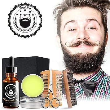 Kit de cuidado de la barba para el cuidado de los hombres, leegoal kit de