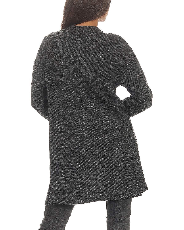 PERFETTO Cardigan donna con cardigan lungo a costine