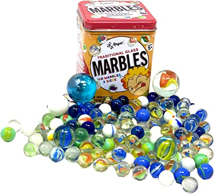 Ucradle Marbles 100 Pieces Traditional Assorted Colorful Classic Retro Glass Marbles Cat/'s Eye Marbles Classic Game Toys Come in Net Bag for Marble Run Games Sports Toys /& Outdoor