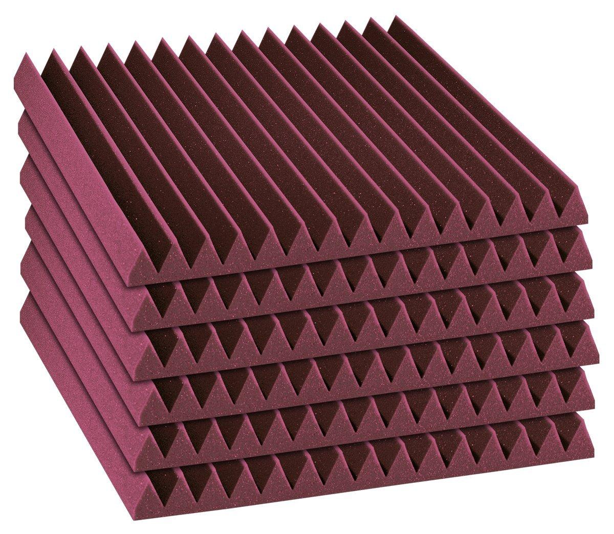 DST114PUR24 Auralex Acoustics Sound Damping Products Purple 2 x 12 x 12
