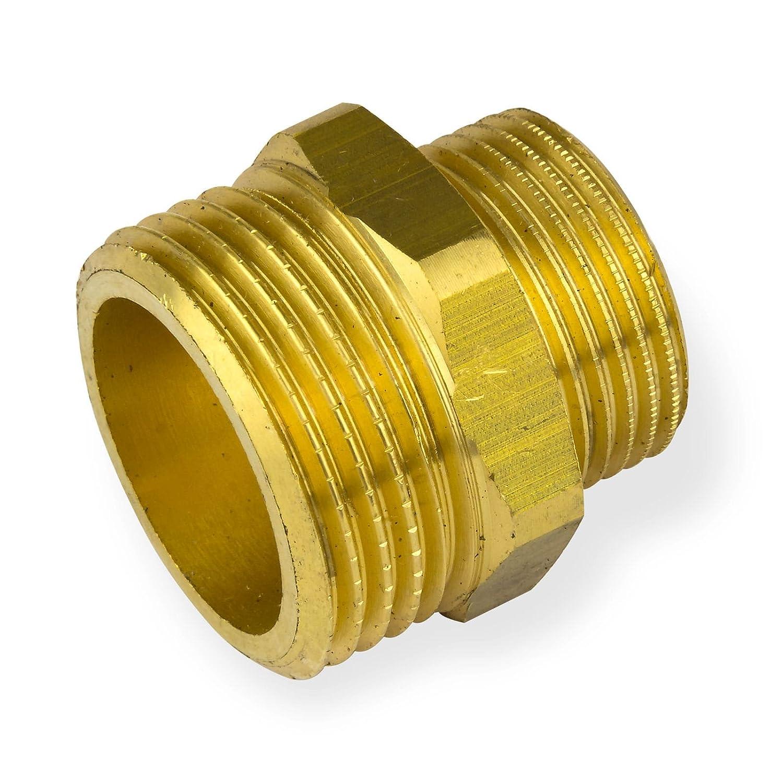 Stabilo-Sanitaer Messingfitting Reduziernippel 1/4 x 1/2 Zoll Reduzierung Messing Fitting Gewindefitting Rohrfitting