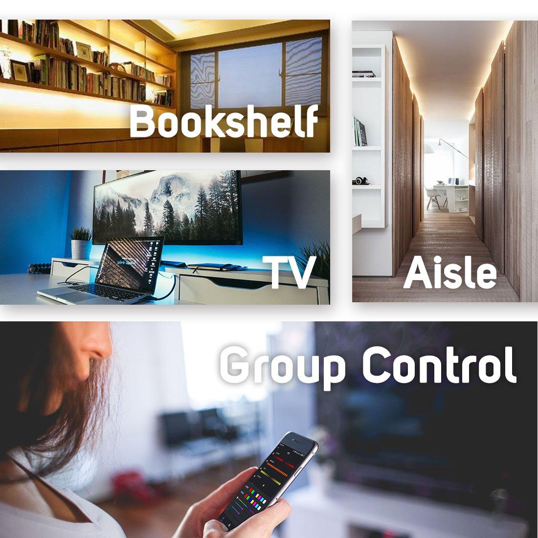 VIPMOON DC5~24V SP108E WiFi Controller for SK6812 SK6812-RGBW WS2812 WS2813 WS2815 AL2815 Strip Light,iOS//Android App Group Control