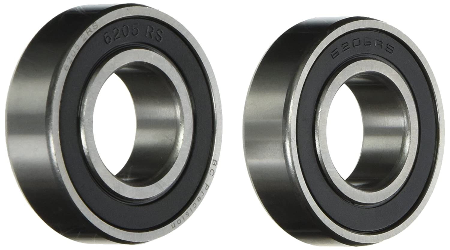BC Precision BC-6205-2RS-2 Two (2) Sealed Bearings 25x52x15 Ball Bearings/Pre-Lubricated (Pack of 2)
