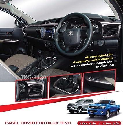 Matte Black 4 Dr Handle Bowl Insert Cover Fit Toyota Hilux Revo Pickup 2015-17