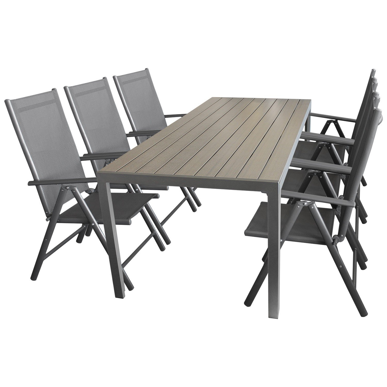 7tlg sitzgruppe gartengarnitur gartenm bel terrassenm bel. Black Bedroom Furniture Sets. Home Design Ideas