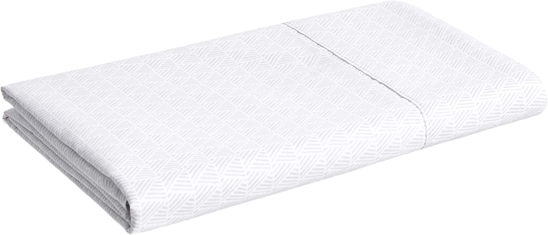 10 cm Grey Crosshatch 180 x 260 Basics Microfiber Flat Sheet