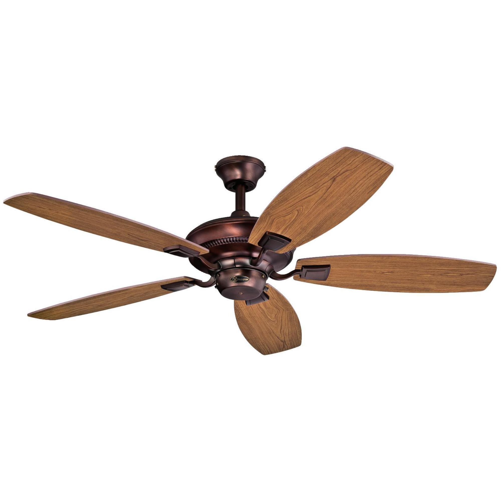 Westinghouse 7203700 Aiden 52'' Reversible Five-Blade Indoor Ceiling Fan, Oil Brushed Bronze by Westinghouse