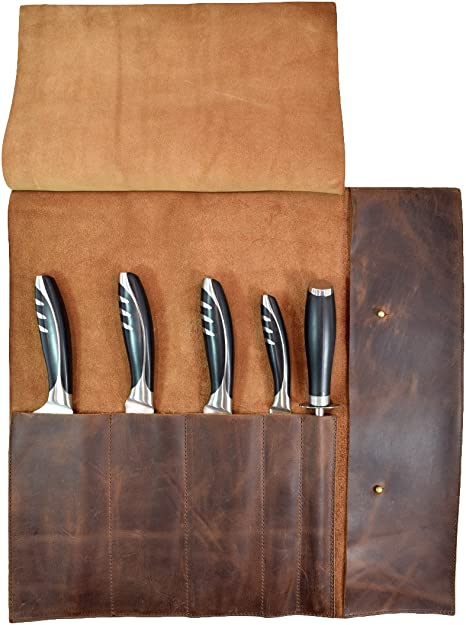 Leather Chef Roll 5 Slot
