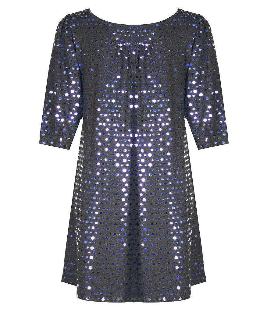 Ladies Women/'s Polka Dot SHINEY SEQUIN Open Party Xmas Cardigan Top Plus 14-28