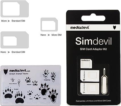 Amazon Com Mediadevil Simdevil 3 In 1 Sim Card Adapter Kit Nano
