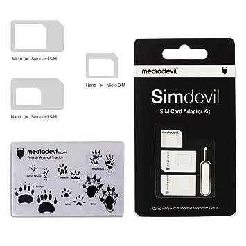 MediaDevil MD-SD-01 Simdevil 3-in-1 Adaptador de tarjeta SIM (Nano / Micro / Standard)