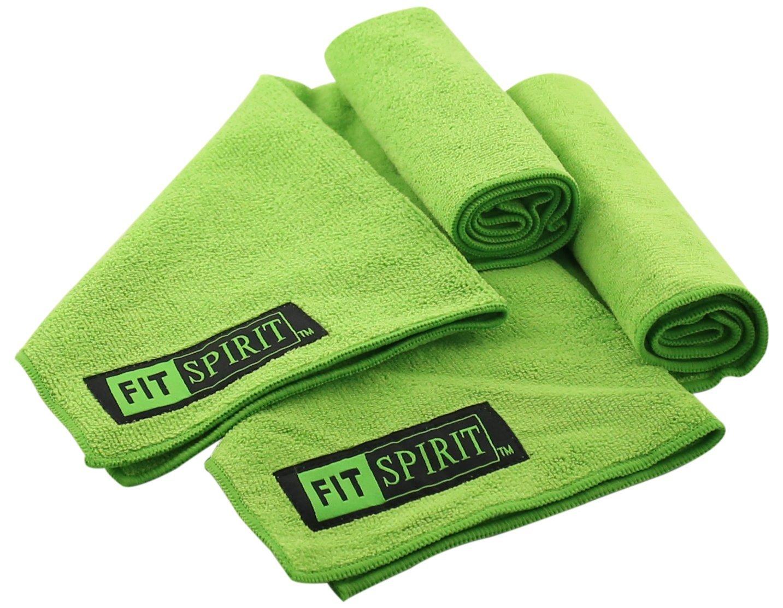 Choose Your Color and Size Fit Spirit Set of 2 Super Absorbent Microfiber Non Slip Skidless Sport Towels