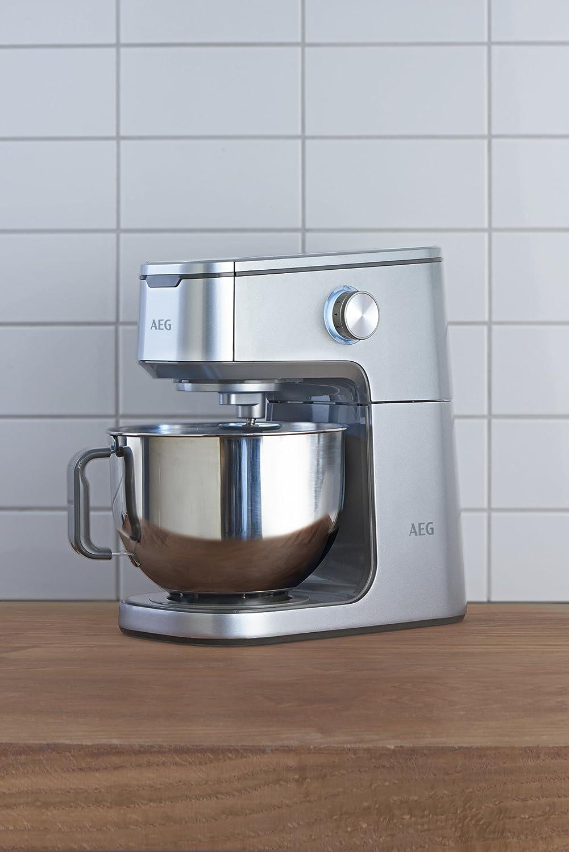 AEG km7300 Robot de cocina 2 Cuenco de acero inoxidable pulido con 4, 8 L, spiegelplatte: Amazon.es: Hogar