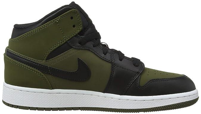 f27276b039a Amazon.com | NIKE - Air Jordan 1 Mid BG - 554725301 - Color: Green - Size:  4.5 | Basketball