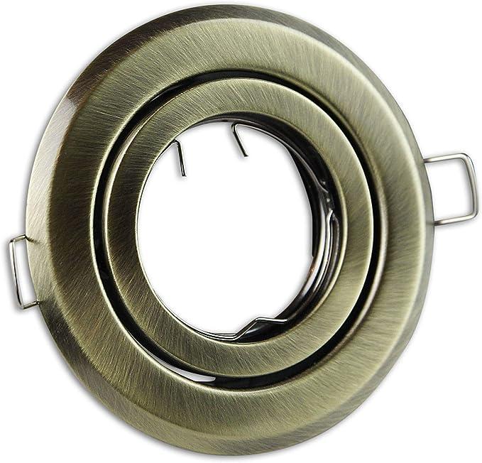Einbaurahmen GU10 MR16 rund silber schwarz Gehäuse Einbauleuchte Ø65mm Bohrloch