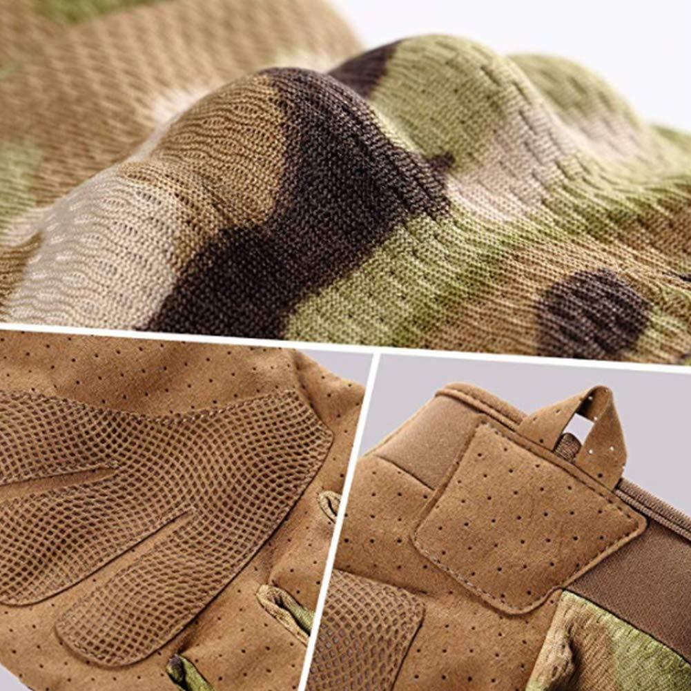 YAOBAO Outdoor-Kampfhandschuhe 2 Paare Touch Screen Rubber Hard Knuckle Full Finger Taktische Handschuhe Feld Tarnhandschuhe