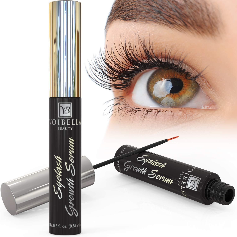 Voibella Eyelash Growth Serum & Eyebrow Enhancer - Best Natural Eye Lash Enhancing & Rapid Brow Growing Treatment To Dramatically Boost & Grow Ultra Thick, Longer, Lush & Lavish Lashes (8.87ML)