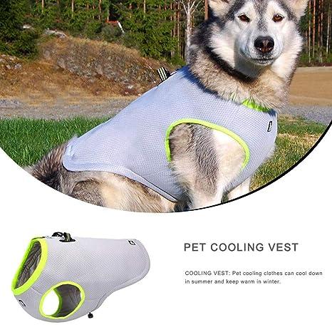 Chaleco de enfriamiento para Mascotas Abrigo Fresco para Perros ...