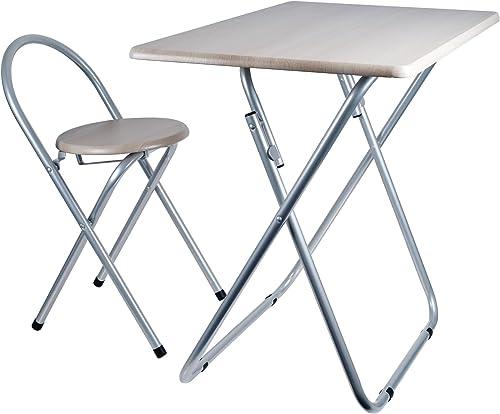 Trademark Home Folding Desk Chair Combo