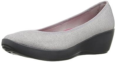 b3260d69fe Amazon.com | Crocs Women's Busyday Heathered Ballet Wedge Flat | Flats
