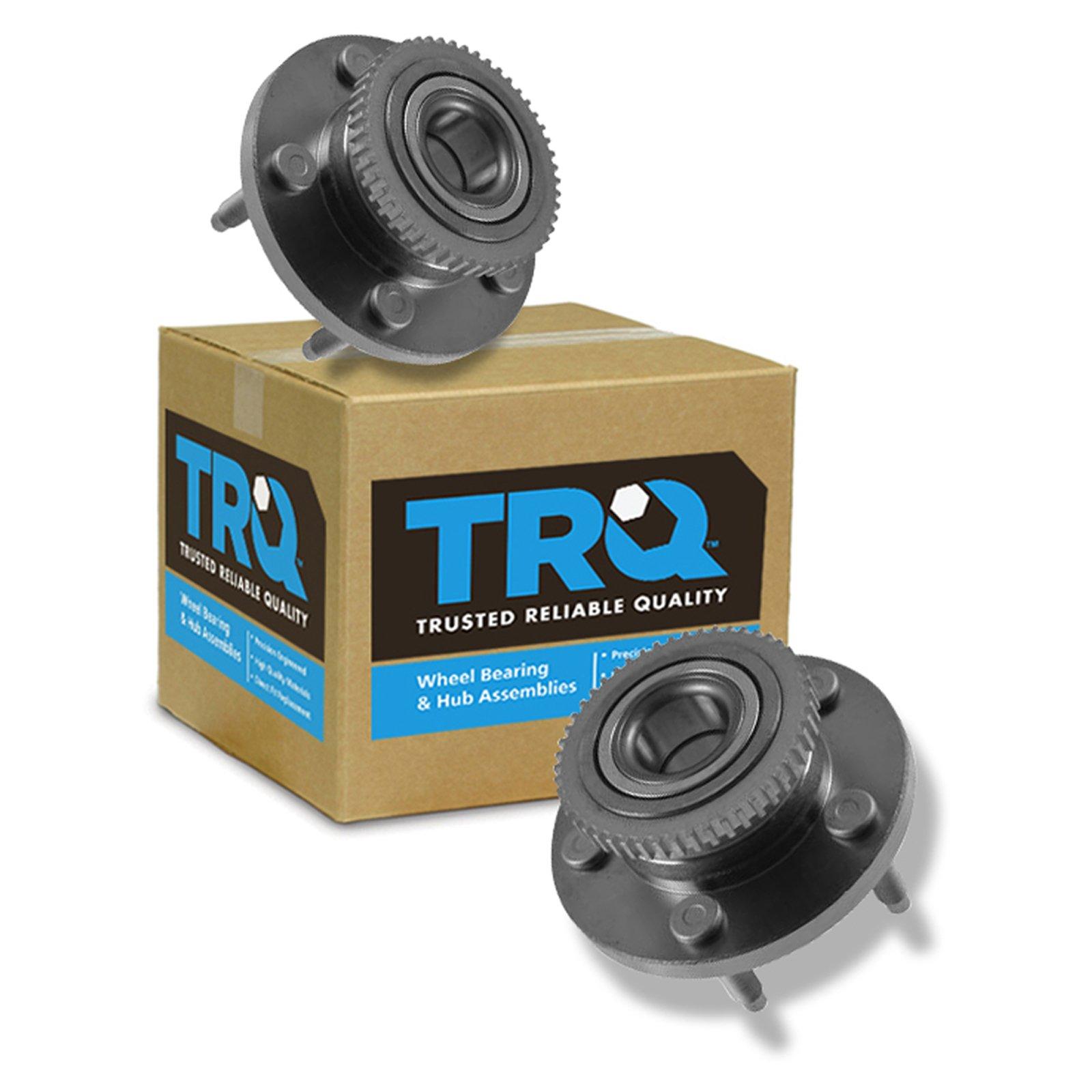 TRQ Front Wheel Hub & Bearing Pair Set of 2 Kit & for Ford Mustang Avanti II by TRQ