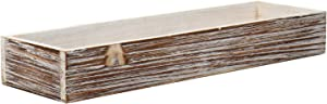 Wood Rectangle Long Planter Box Rustic Charm Window Box Garden Centerpiece Display, Wooden Planters Wedding Flowers Holder,Decorative Flower Pot for Home and Venue