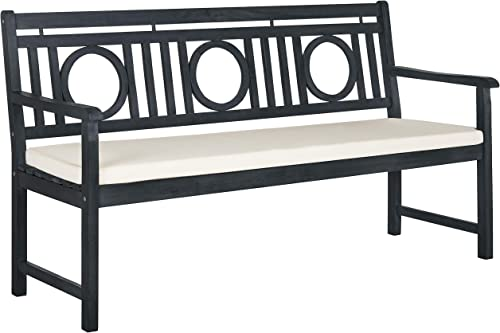 Safavieh PAT6736K Outdoor Collection Montclair Grey 3 Seat Bench