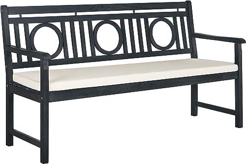 Safavieh PAT6736K Outdoor Collection Montclair Grey 3 Seat Bench