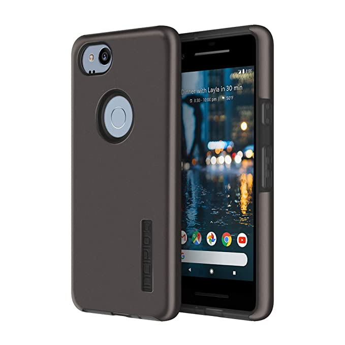 hot sales 0de1f 279be Incipio DualPro Google Pixel 2 Case with Shock-Absorbing Inner Core &  Protective Outer Shell for Google Pixel 2 - Gunmetal