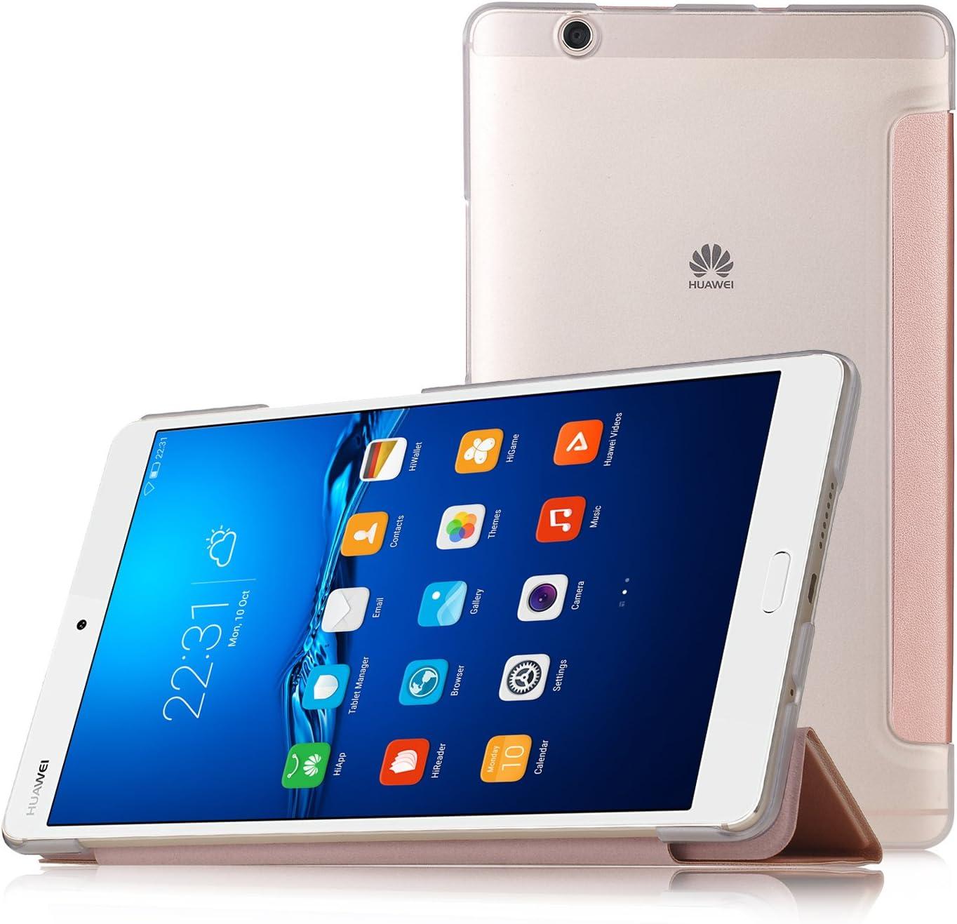 IVSO Huawei MediaPad M3 8.4 Cover Custodia - Slim Smart Cover Custodia Protettiva in Pelle PU per Huawei MediaPad M3 8.4 (2016 Version) Tablet, Oro ...