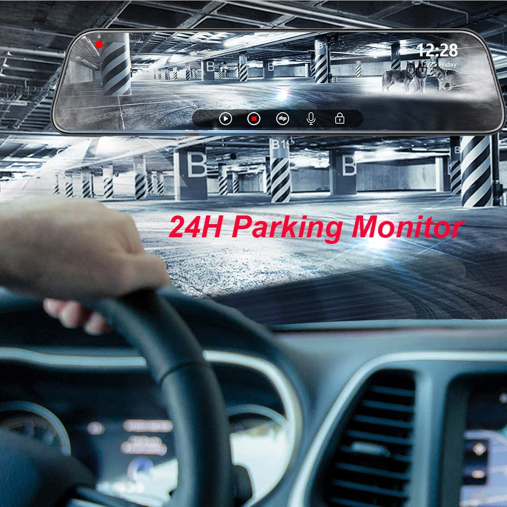 WOLFBOX Mirror Dash Cam V19 Dedicated Hardware kit for Realizing The Parking Monitoring Function of The Machine