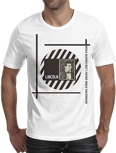GholoMez Camisa de algodón para Hombre, diseño de Dinosaurio Abraham Lincoln, Color Negro - - Medium: Amazon.es: Ropa y accesorios