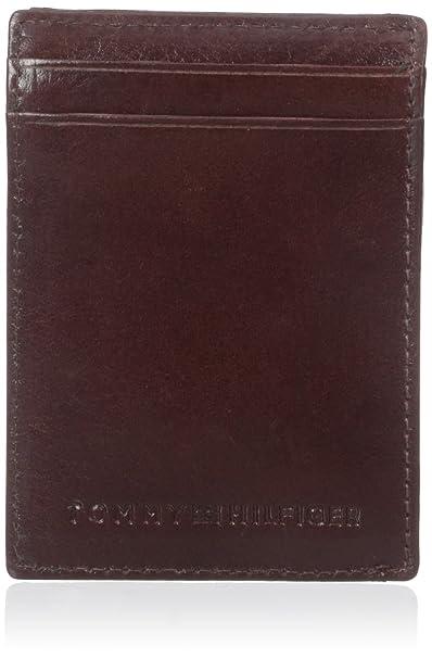 Tommy Hilfiger hombres de York Slim magnético bolsillo delantero tipo cartera - Marrón -: Amazon.es: Ropa y accesorios