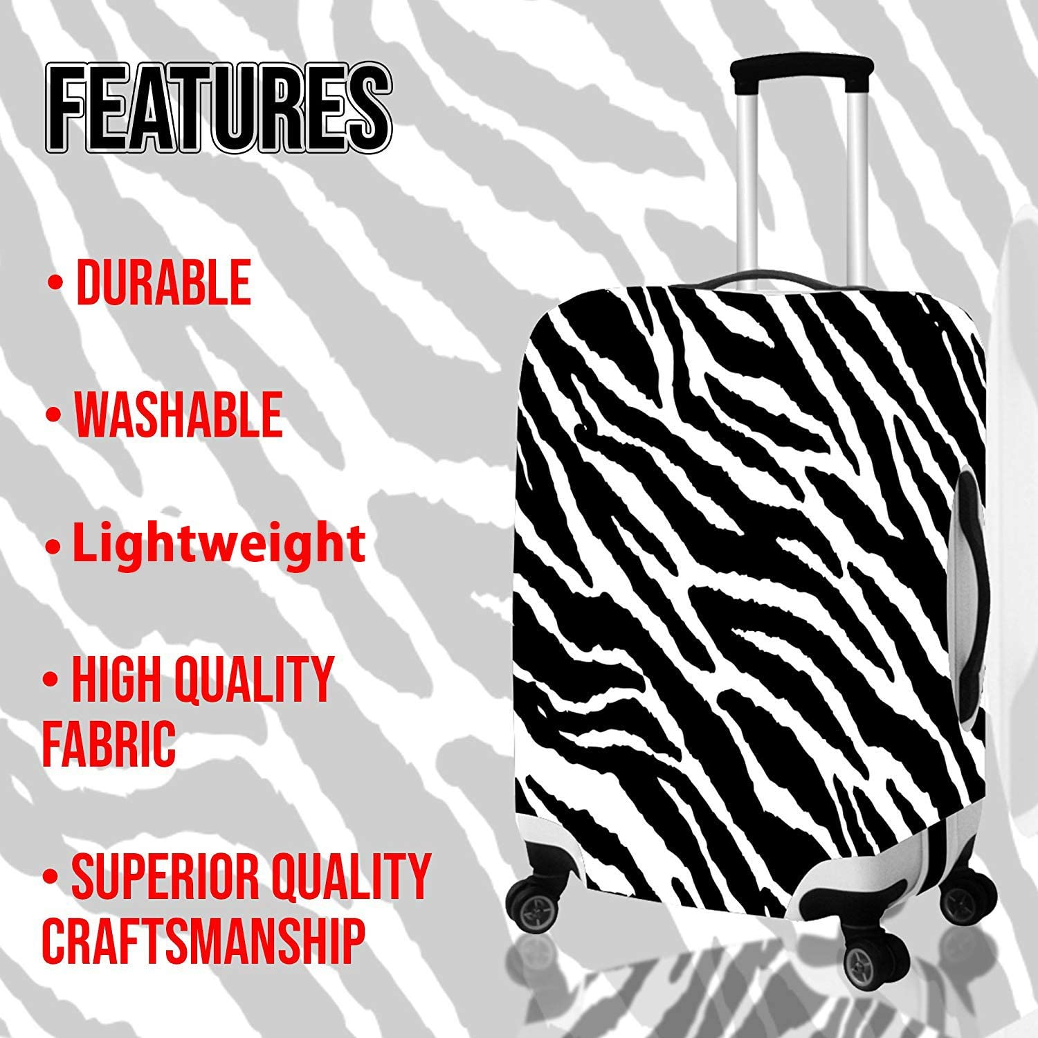Cute Shark Print Eco-friendly 18-21 inch Travel Luggage Cover Spandex Suitcase Protector Washable Baggage Covers