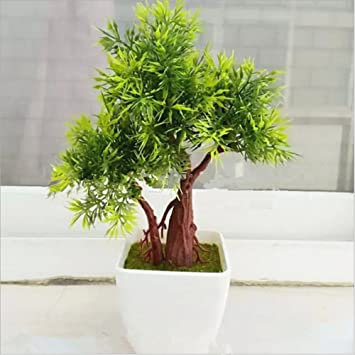 Meiliy Artificial Greenery Faux Potted Tabletop Plants Small Synthetic,  Decor Bonsai For Office Home Desks