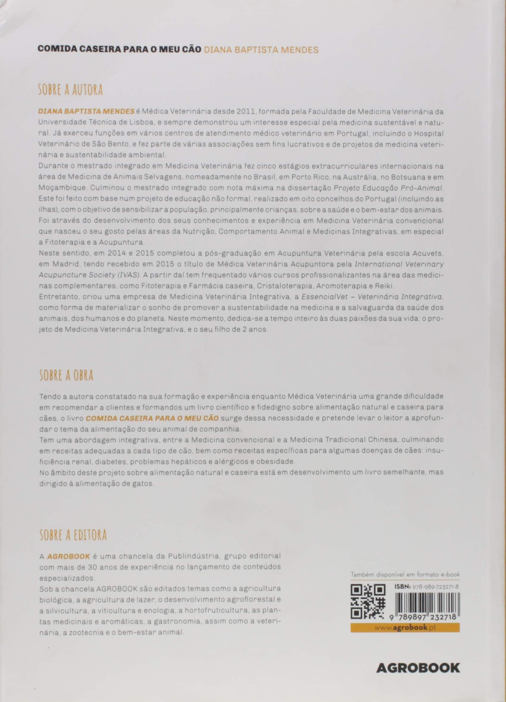 Comida Caseira Para o Meu Cão. Uma Forma de Amar: Diana Baptista Mendes: 9789897232718: Amazon.com: Books