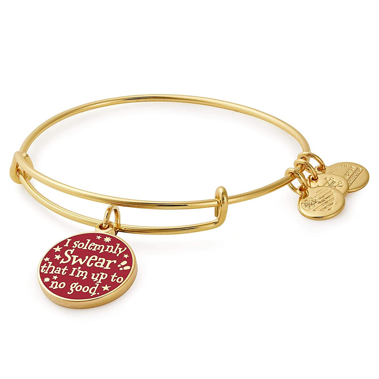 66862590e Amazon.com: Alex and Ani Women's Harry Potter Mischief Managed Bangle Shiny  Gold One Size: Jewelry