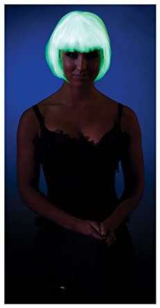 Party King Glow in The Dark Bob Costume Wig  sc 1 st  Amazon.com & Amazon.com: Party King Glow in The Dark Bob Costume Wig: Clothing
