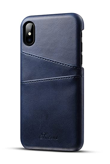 big sale 41ed9 c5bf6 iPhone XS X Wallet Phone Case Slim PU Leather Back Protective Cover Card  Holder