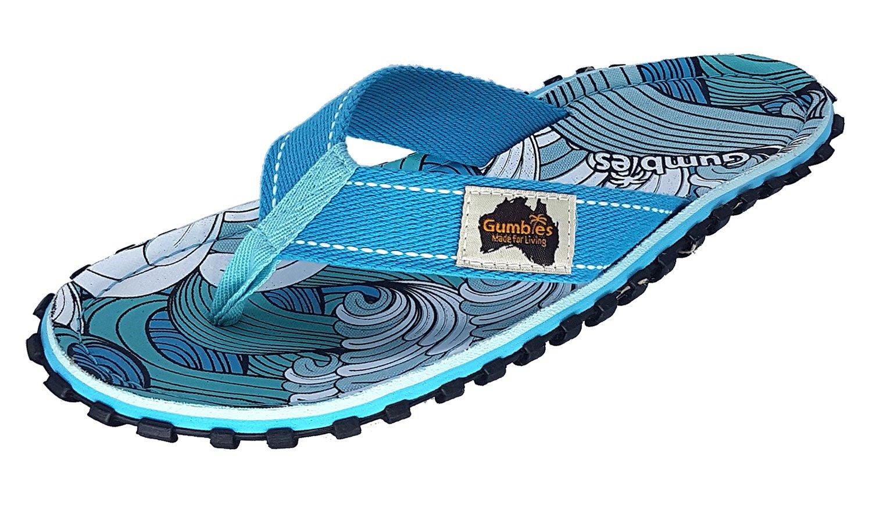 Gumbies Damen Zehentrenner - Rosa/Blau Schuhe in Uuml;bergrouml;szlig;en  40 EU|Surf