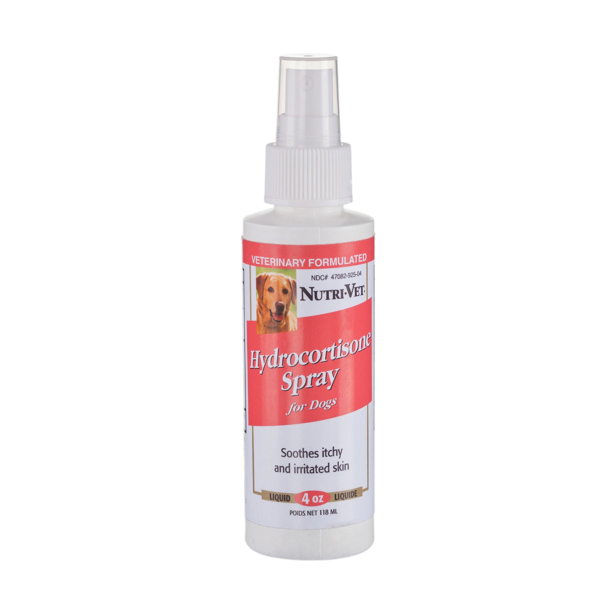 Nutri-Vet Wellness Advanced Hydrocortisone Spray with Aloe Vera for Pets, 4-Ounce