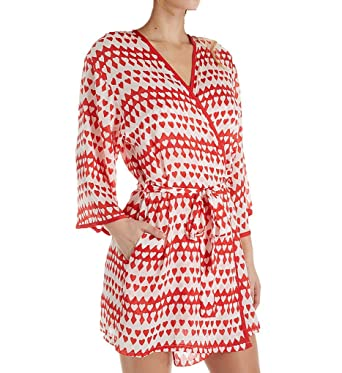 d93d7f4d3 Kate Spade New York Hearts Crinkle Chiffon Robe (5041473) M Hearts at  Amazon Women s Clothing store