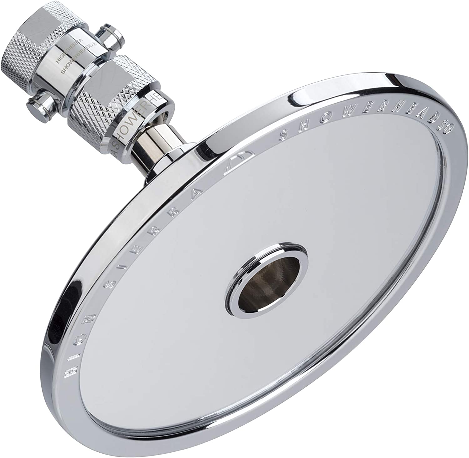 High Sierra s NEW Reflections Shower Head and Fogless Shaving Mirror In One. Made of Solid Aluminum that Naturally Heats Up While Showering. Guaranteed to Never Fog