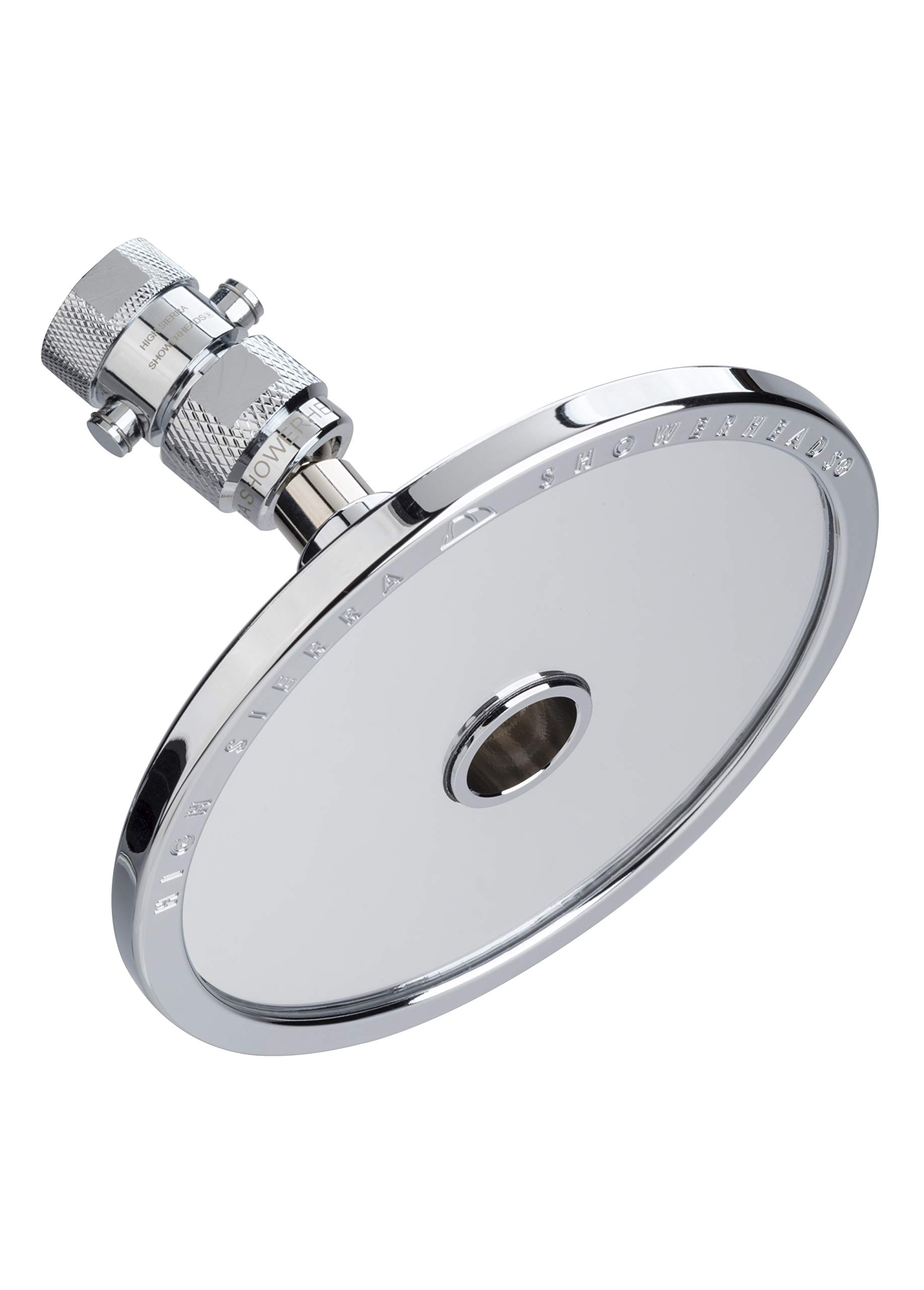 High Sierra's NEW ''Reflections'' Shower Head and Fogless Shaving Mirror In One. Made of Solid Aluminum that Naturally Heats Up While Showering. Guaranteed to Never Fog! by High Sierra Showerheads (Image #1)