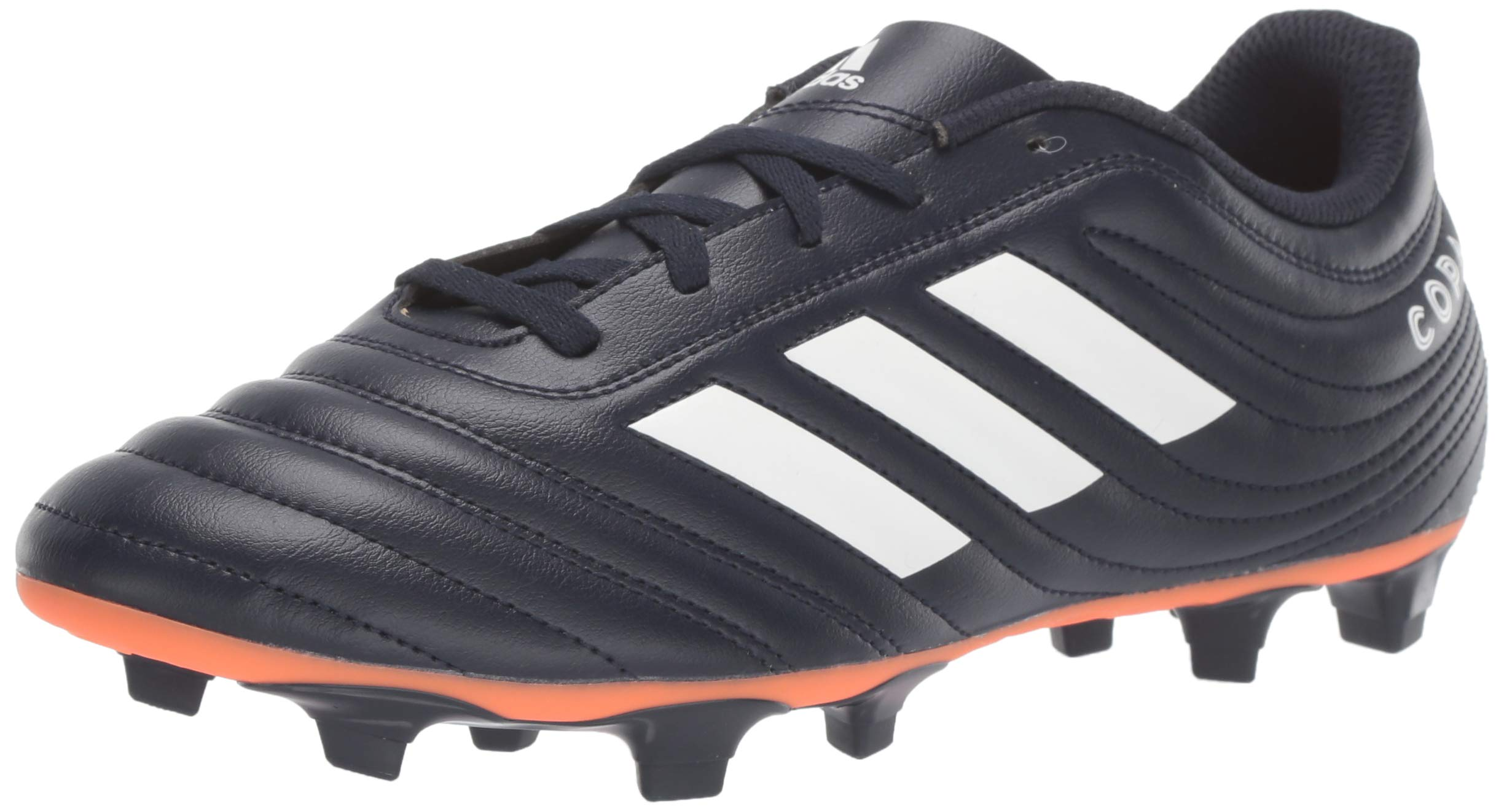 adidas Copa 19.4 Firm Ground Soccer Shoe, Legend Ink/White/hi-res Coral, 5 M US