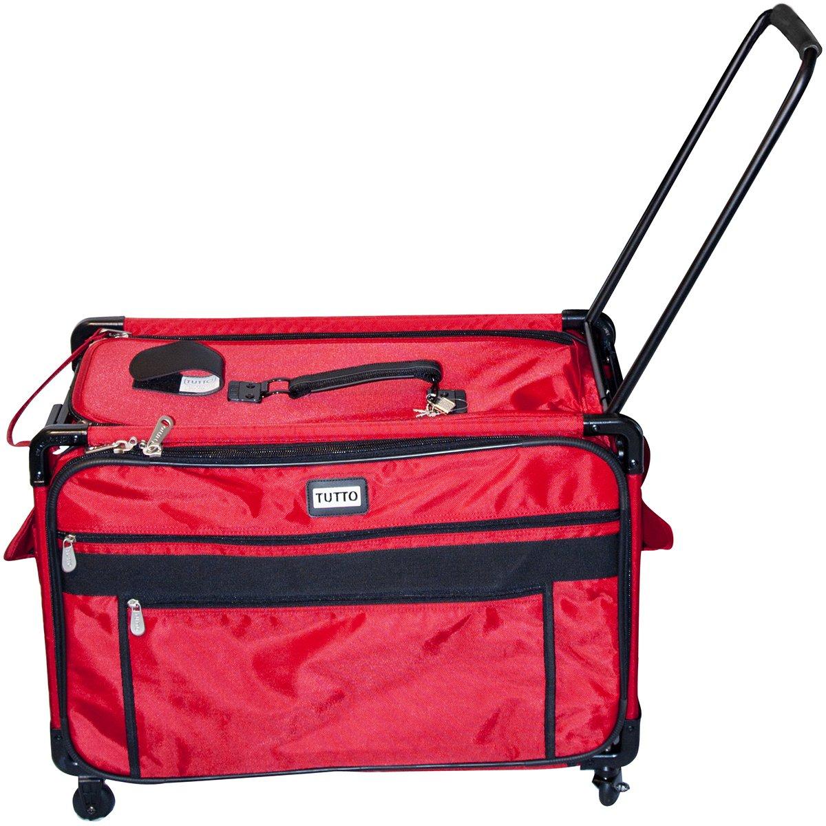 TUTTO Machine On Wheels Case, 27''X16.25''X14'' Red by Tutto
