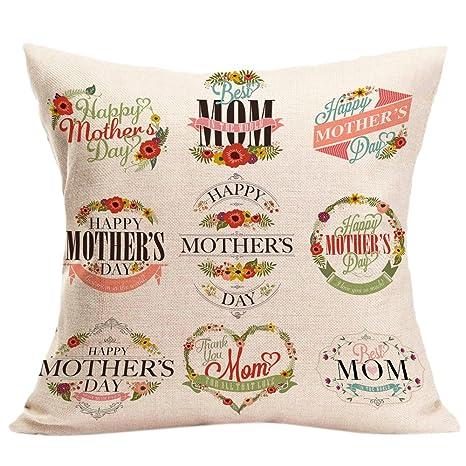 Funda de cojín para el día de la Madre, sofá, Cama ...