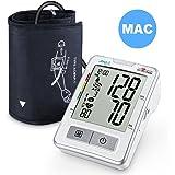 Misuratore di pressione arteriosa da braccio APULSE, bracciale per misurare la pressione arteriosa con esclusiva modalità MAC per letture precise, grande e chiaro display LCD, Batterie AA Incluse