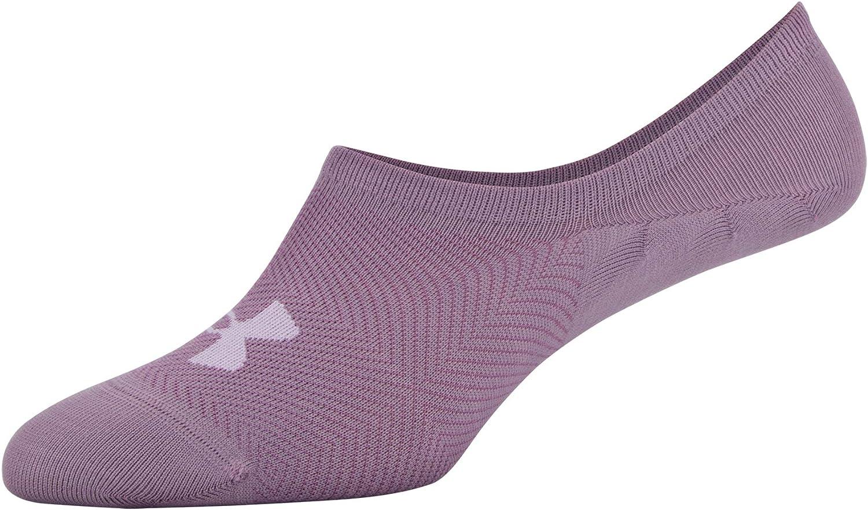 Medium Under Armour Womens Breathe Lite Ultra Low Socks Purple Pink Assorted 3-Pairs