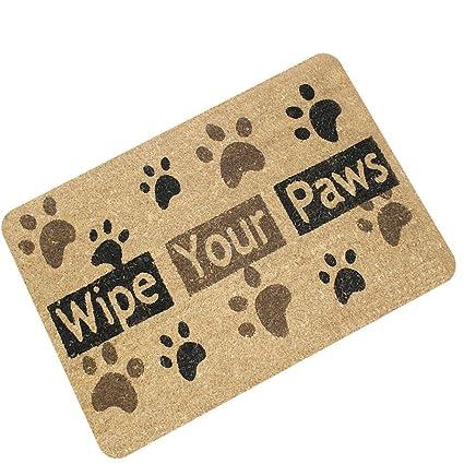 """/""""WIPE YOUR PAWS/"""" DOG BONE COIR DOORMAT 18/"""" X 30/"""" WELCOME MAT DOOR MATS"""